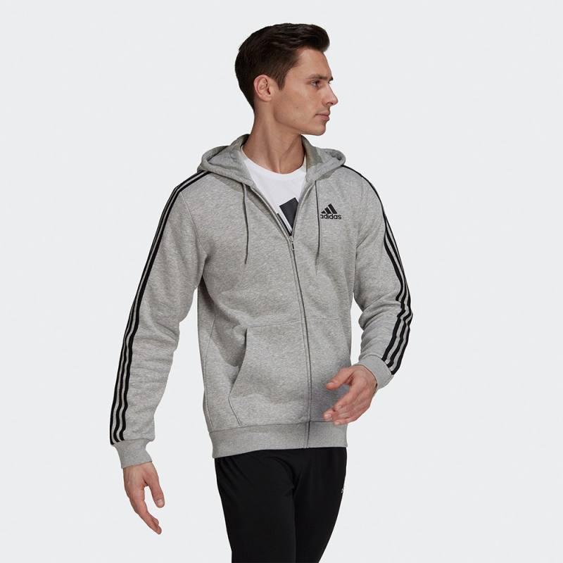 Adidas Essentials Fleece 3-Stripes Full-Zip Hoodie