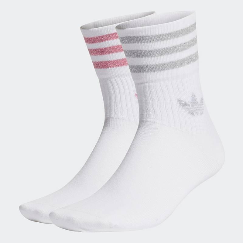 Adidas Mid Cut Glitter Crew Socks 2 Pairs