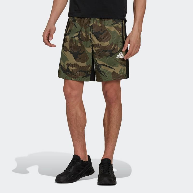 Adidas AEROREADY Designed to Move Sport Camo-Print Shorts