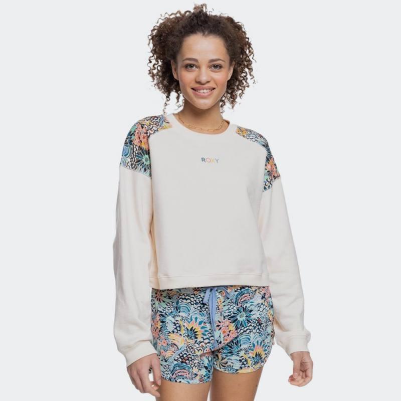 Roxy Marine Bloom Neck Sweatshirt