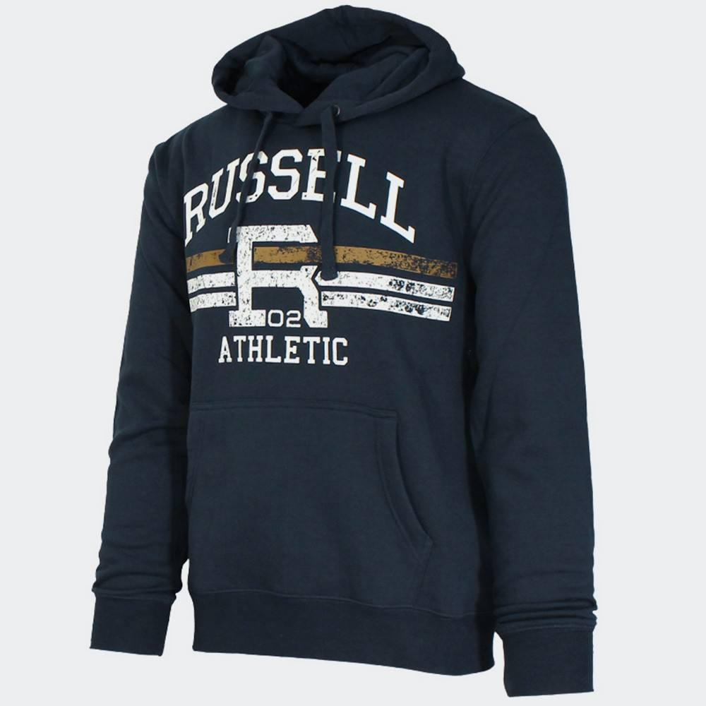 RUSSELL ATHLETIC PULL OVER HOODY - GRAPHIC PRIN
