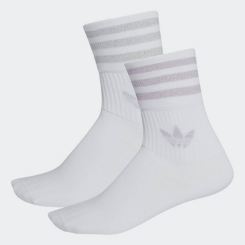 Adidas Mid-Cut Glitter Crew Socks 2 Pairs