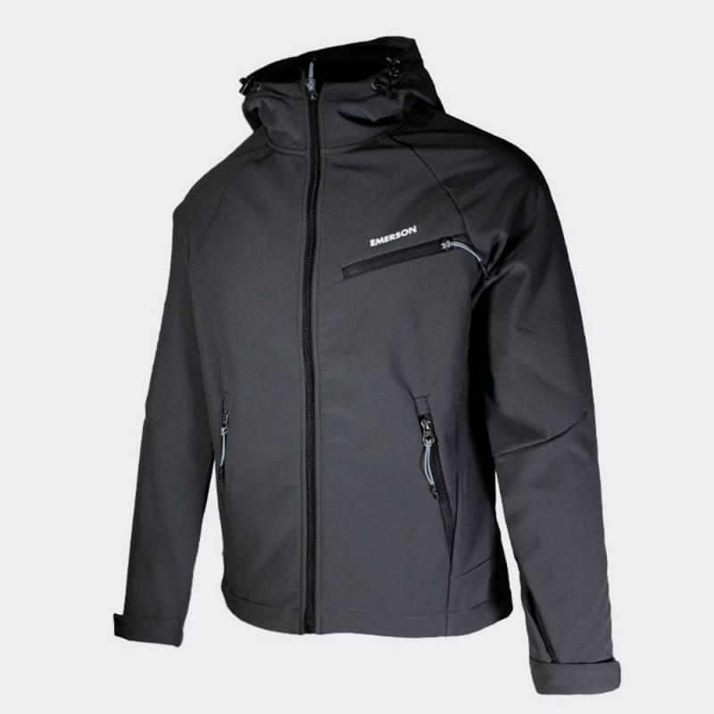 EMERSON Men's Soft Shell Jacket with Hood - ΑΔΙΑΒΡΟΧΟ