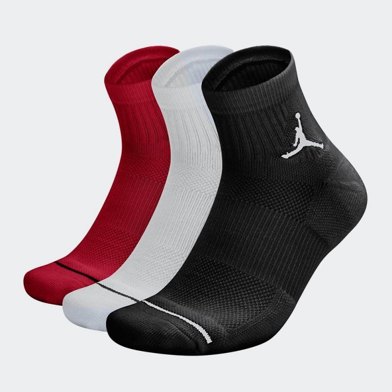 Nike Jordan Jumpman High-Intensity Quarter Socks 3 Pairs