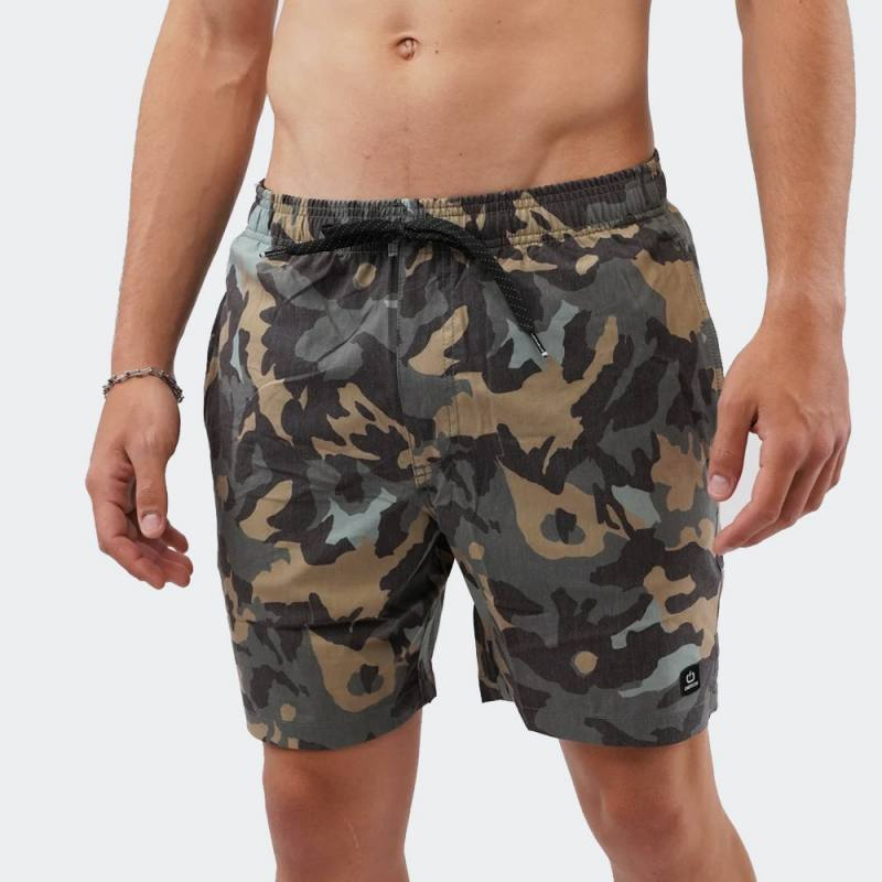 EMERSON Printed Packable Volley Shorts
