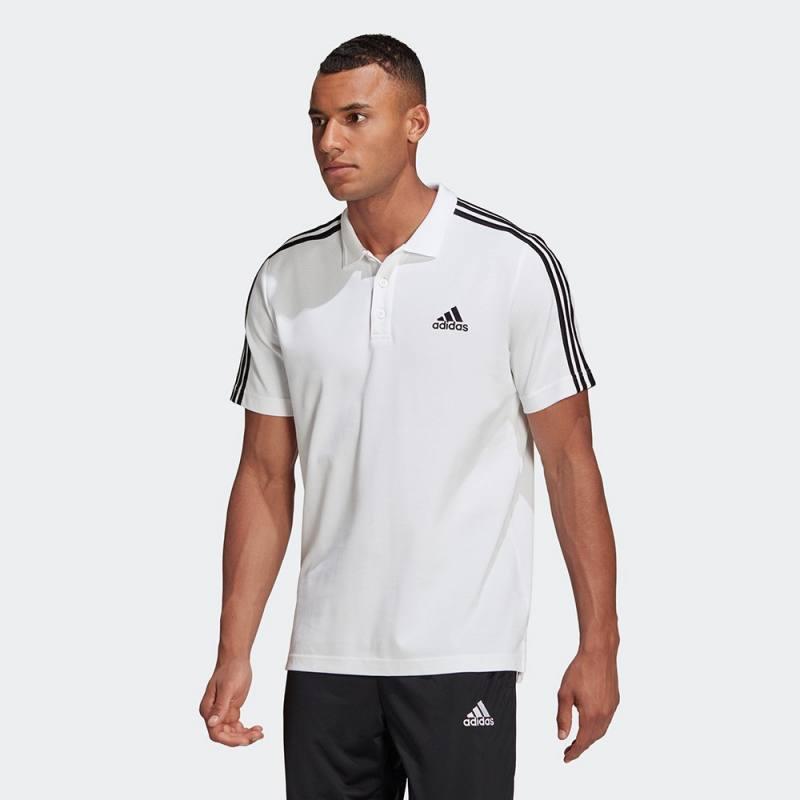 Adidas Essentials Pique Small Logo 3-Stripes Polo Shirt