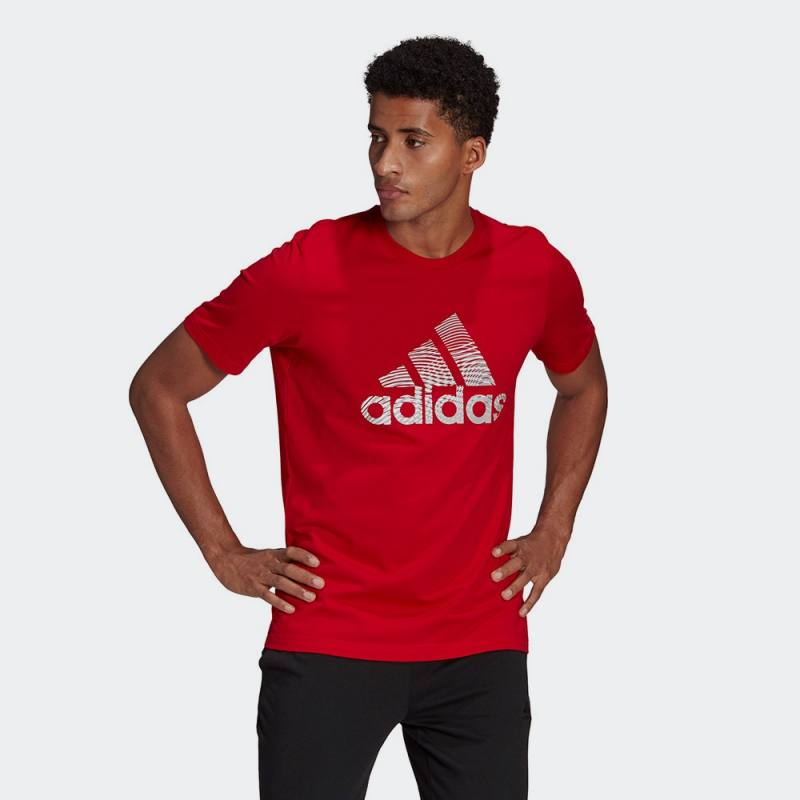 Adidas Extrusion Motion Puff-Print Logo Graphic Tee