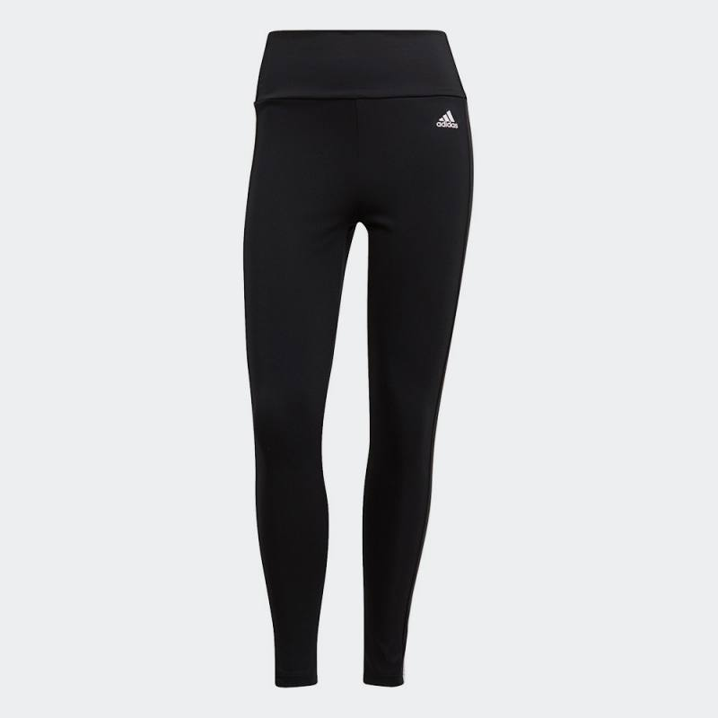 Adidas Designed To Move High-Rise 3-Stripes 7/8 Sport Tights