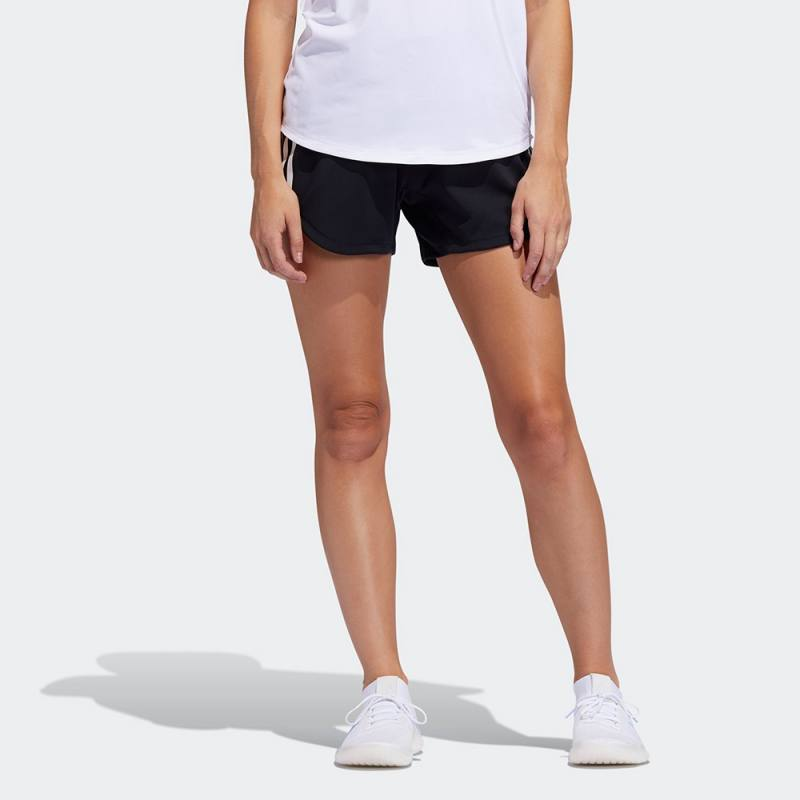 Adidas 3-Stripes Gym Shorts Black / Black