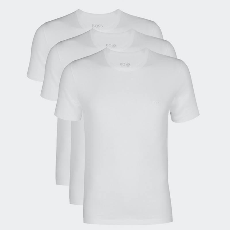 HUGO BOSS CREW NECK 3 PACK T-SHIRT REGULAR FIT WHITE