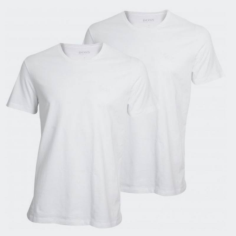 HUGO BOSS CREW NECK 2 PACK T-SHIRT RELAXED FIT WHITE